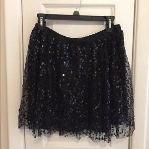 Material Girl Black Sequin Mini Skirt